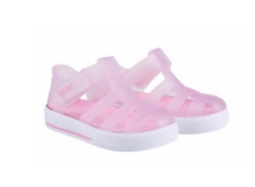 IGOR 10171 Clear Pink with white sole.Velcro fastening.PRE ORDER