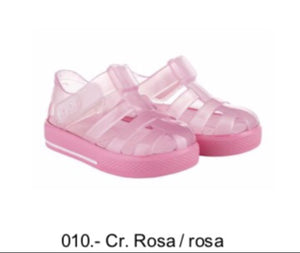 Igor clear pink jellies with pink sole.Velcro fastening 10245 PRE ORDER