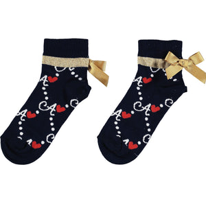 "A Dee ""Madeline"" A print ankle sock S212906"