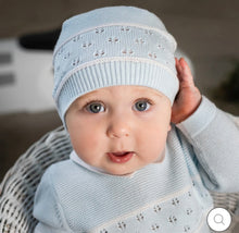 Load image into Gallery viewer, Emile et Rose blue knitted boys suit Wilkie 6461PB