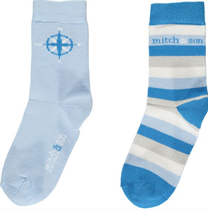 A/W20 Mitch and son pale blue Explore socks MS1417 COLE
