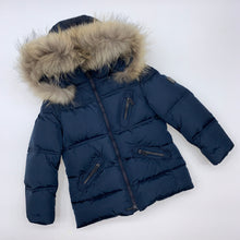 Load image into Gallery viewer, Boys Jums Navy hooded coat