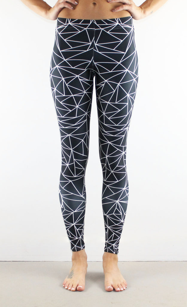 Fractal Leggings // White on Black