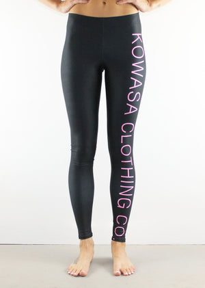 KOWASA Leggings // Pink on Black