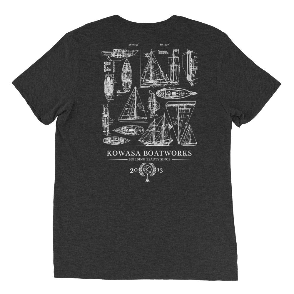 KOWASA Boatworks Tee in Charcoal