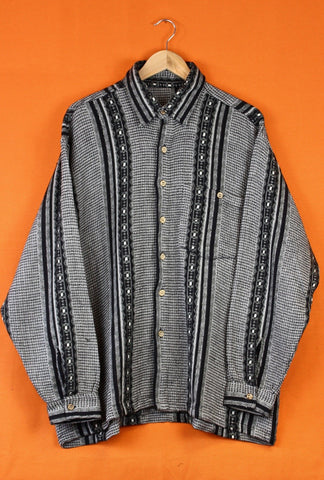 Aztec Pattern Flannel Shirt
