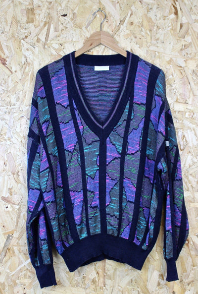 Adidas 80s V Neck jumper