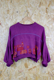 Cropped 80s Jumper