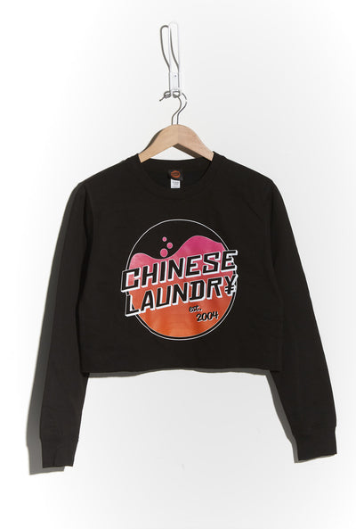 Wash Crop Sweatshirt - Black