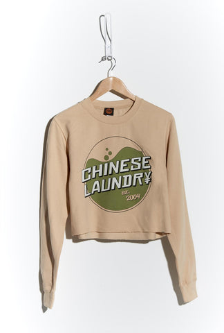 Wash Crop Sweatshirt — Nude
