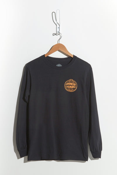 Reverse Lantern Tee Long Sleeve — Black