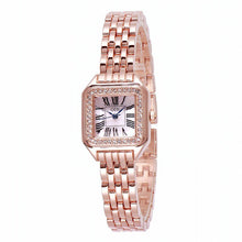 Load image into Gallery viewer, New Fashion Rhinestone Watches Women Luxury Brand Stainless Steel Bracelet watches Ladies Quartz Dress Brand Watches reloj mujer