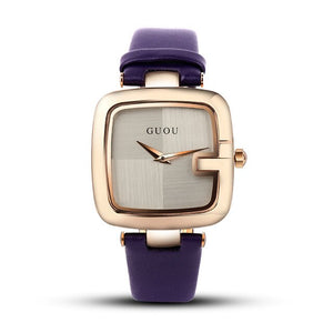 GUOU Women's Watches 2020 Fashion Ladies Watches For Women Bracelet Watch Women Luxury Montre Femme Square Clock Saat