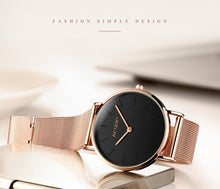 Load image into Gallery viewer, Watch For Women Brief Elegant Quartz WristwatchSimple Thin Ladies Clock Waterproof Dress Womens Watch AESOP Rose Gold Ladies