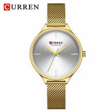 Load image into Gallery viewer, CURREN Fashion Simple Women Watches Luxury Brand Leather/Stainless Steel Quartz Watch Ladies Waterproof Clock relogio feminino