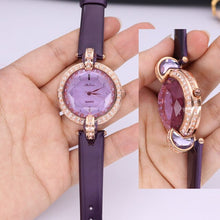 Load image into Gallery viewer, SALE!!! Discount Melissa Crystal Old Types Lady Women's Watch Japan Mov't Fashion Hours Bracelet Leather Girl's Gift Box