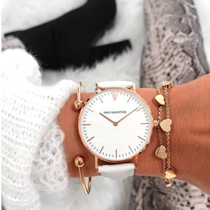 PAUL VALENTINE Casual Women's Watches Bracelet Quartz Ladies Watch Women Clock Wrist Watch Relogio Feminino bayan kol saati