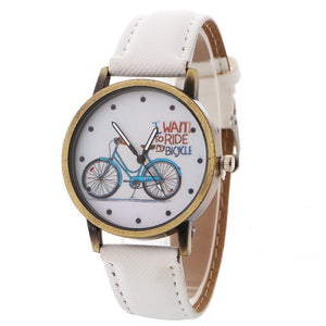 2020 Han Edition On Bicycle Design Bracelet Watch New Speed Sell Tong Lazada Hot Style Ladies Cowboy With Table