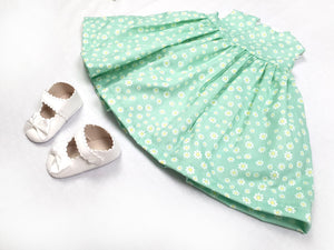 Green Daisies Baby Dress