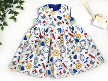 Load image into Gallery viewer, Nautical Baby Dress