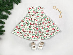 Robin Christmas Baby Dress