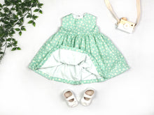Load image into Gallery viewer, Green Daisies Baby Dress