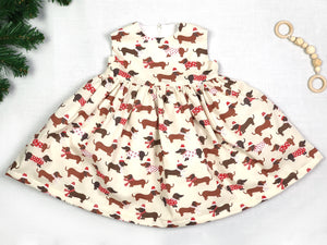 Sausage Dog Christmas Dress