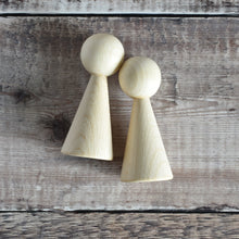 Load image into Gallery viewer, Cone angel figure - 10cm tall in solid beech