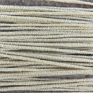 Unbleached cotton chenille pipe cleaners