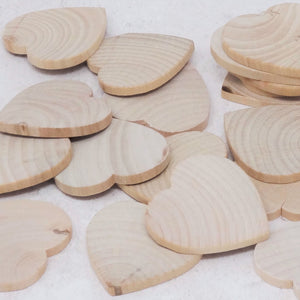 Hearts - 5cm wonky wooden hearts seconds 25 pack
