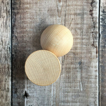 Load image into Gallery viewer, Hemisphere - solid wooden half round / half ball / split ball shape - 6 cm / 60 mm diameter