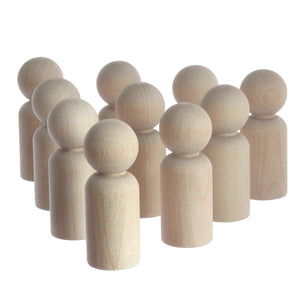 Unpainted birch wooden peg doll boy craft components