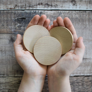 Disc - wooden circle / base - 6 cm / 60 mm diameter - EN71