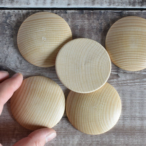 60mm wooden dome shapes - beech - detial