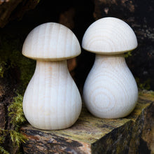 Load image into Gallery viewer, Mushrooms - large wooden fungi / toadstools in solid beech - 6.4cm tall