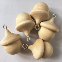 Load image into Gallery viewer, Acorn - wooden acorn hanging decorations