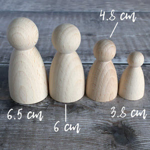 Rounded body figures - 3.8 cm tall