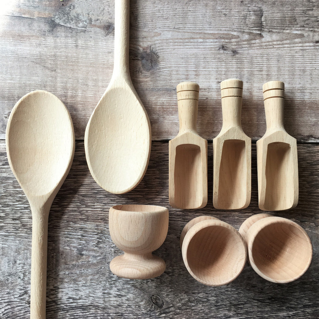 Spoons - wooden mixing spoons 25cm / 10