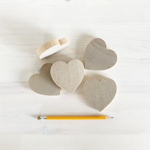 Heart  - chunky wooden heart shapes 7.5cm across