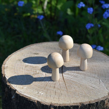 Load image into Gallery viewer, Mushroom - wooden dome cap fungi / toadstool shapes - 5cm tall