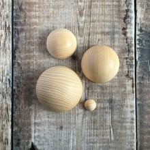 Load image into Gallery viewer, Hemisphere - solid wooden half round / half ball / split ball shape - 5 cm / 50 mm diameter