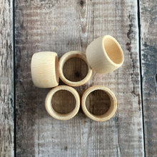 Load image into Gallery viewer, Solid beech wooden napkin rings