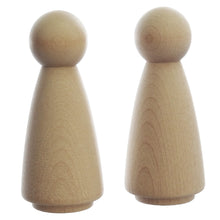 Load image into Gallery viewer, 9 cm tall wooden peg doll lady