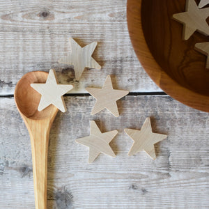Star - 38mm solid stamp-cut five point stars