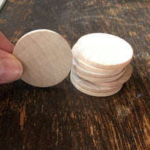 Load image into Gallery viewer, Disc - wooden circle / coin / counter - 3.8cm diameter