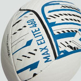CANTERBURY MAX 460 ELITE RUGBY BALL WHITE BLACK BLUE 5