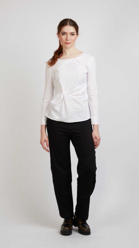 Woven Top With Twist