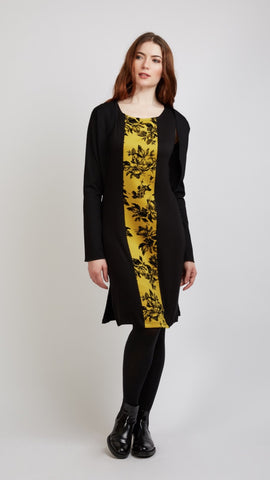 Dress With Floral Panel