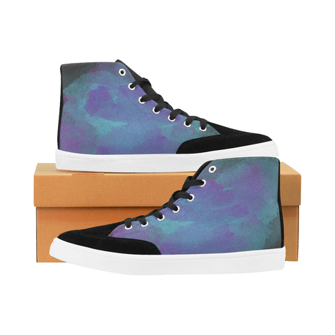 Watercolor High Top Shoes - Tattoo is Art - Apparel