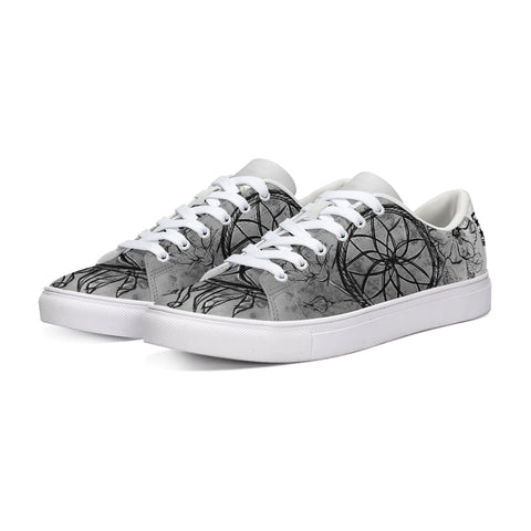Dreamcatcher Flowers Grey Low Tops - Tattoo is Art - Apparel